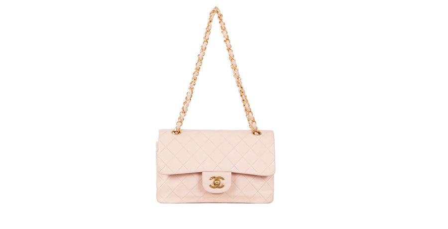 VTG CHANEL BABY PINK LAMBSKIN 2.55 CROSSBODY BAG