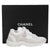 Chanel Spring/Summer 2019 Cloud White Suede Leather Trainer Sneakers Size 6.5
