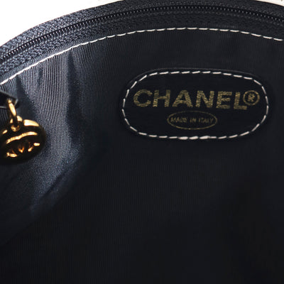 VTG CHANEL TIMELESS LEATHER SHOULDER TOTE BAG