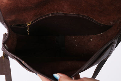 VTG COACH BROWN MESSENGER CROSSBODY BAG