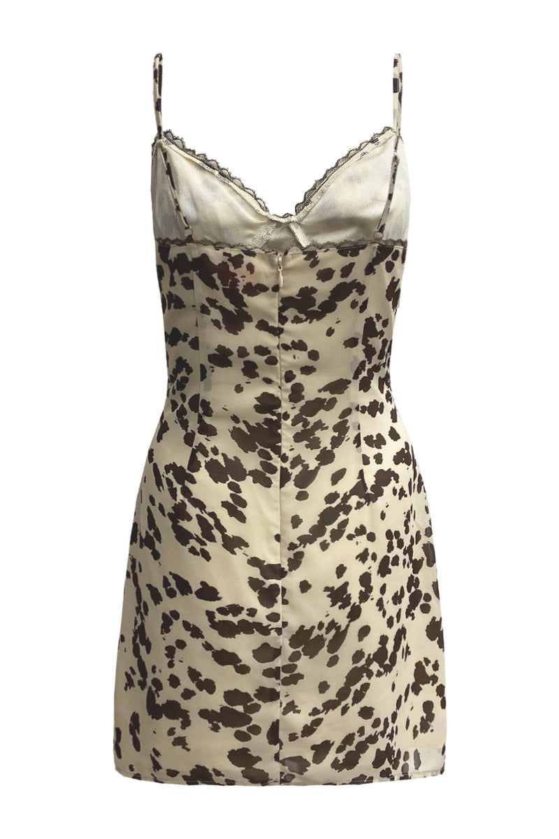 Lev Cow Print Cami Slip Dress