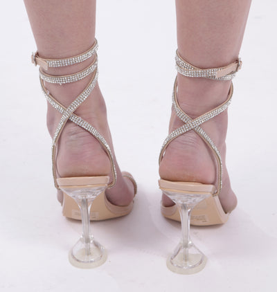 DADDY CATCHERS LUCITE SANDAL HEELS - Mint Market