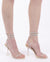 DADDY CATCHERS LUCITE SANDAL HEELS