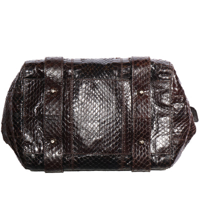 VTG DOLCE AND GABBANA EMBOSSED LEATHER TOP HANDLE BAG