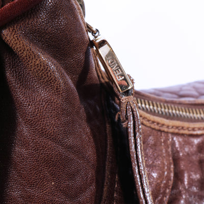 VTG FENDI LEATHER SHOULDER BAG