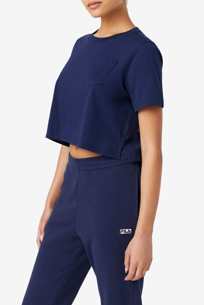 Fila Blenda Crop Top Tee - Navy