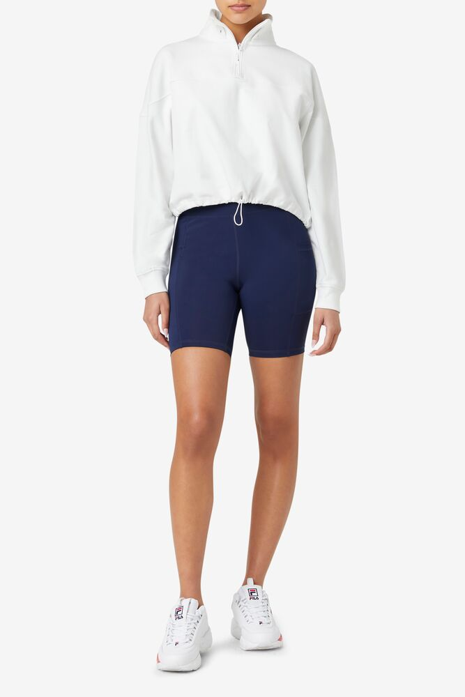 Fila Elysia Quarter Zip Crop Sweatshirt