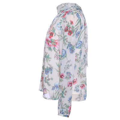 MOCK NECK FLORAL BLOUSE - Mint Market
