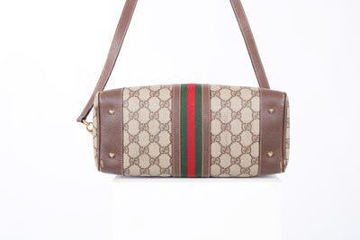 VTG GUCCI MONOGRAM WEB BOSTON CROSSBODY BAG - Mint Market