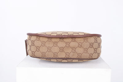 VTG GUCCI GG MONOGRAM CANVAS CROSSBODY BAG - Mint Market