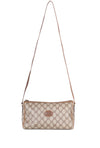 VTG GUCCI MONOGRAM TRIANGLE CROSSBODY BAG