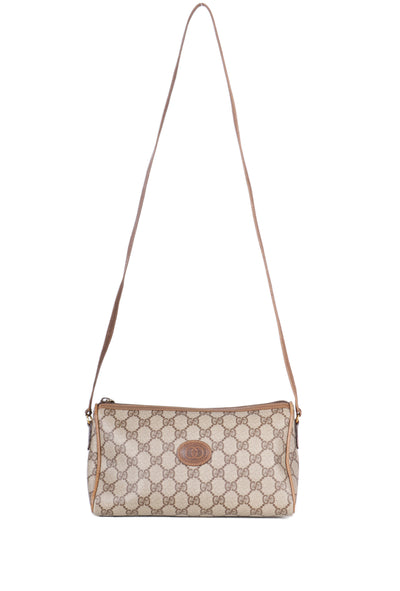 VTG GUCCI 80S TRIANGLE MONOGRAM CROSSBODY BAG - Mint Market