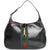 Vintage 1970 Gucci Jackie Leather Stripe Shoulder Hobo Bag