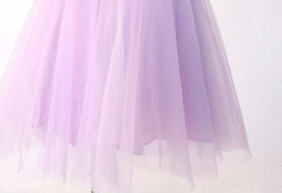 HIGH WAIST LILAC TULLE SKIRT - Mint Market