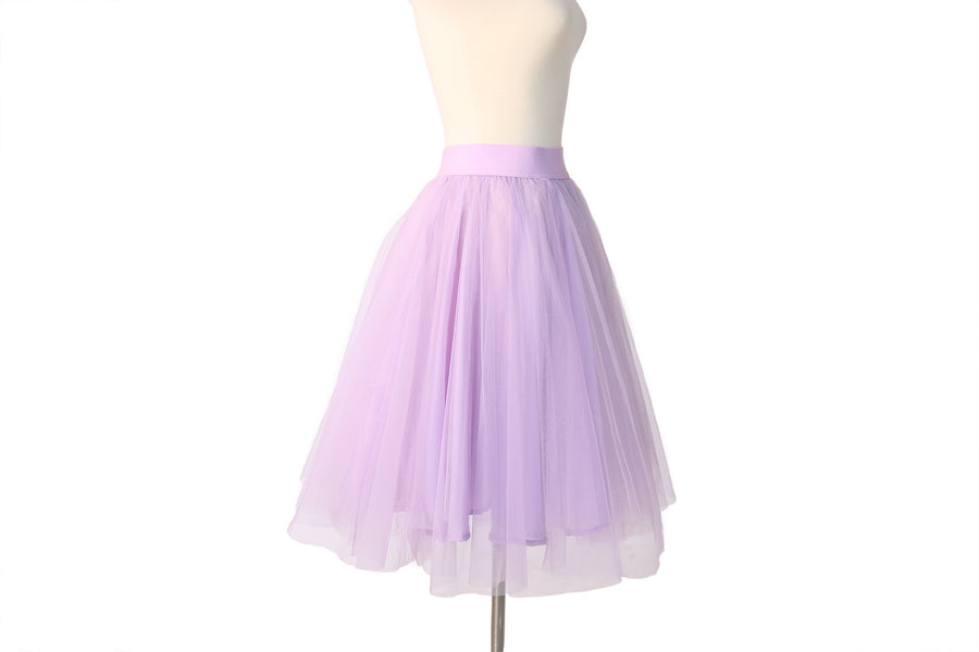 HIGH WAIST LILAC TULLE SKIRT