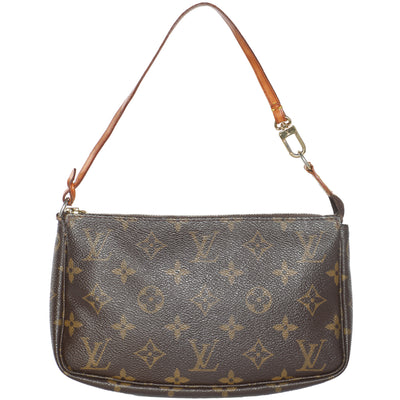 Vintage 2000s Louis Vuitton Pochette Monogram Leather Shoulder Bag