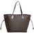 Louis Vuitton Damier Never Full Tote Leather Shoulder Bag