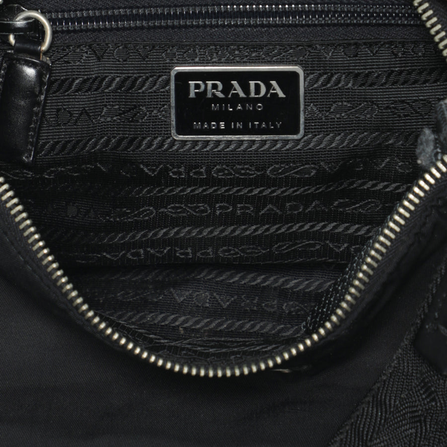 Vintage 2000s PRADA Black NYLON Shoulder Sporty Nylon Bag