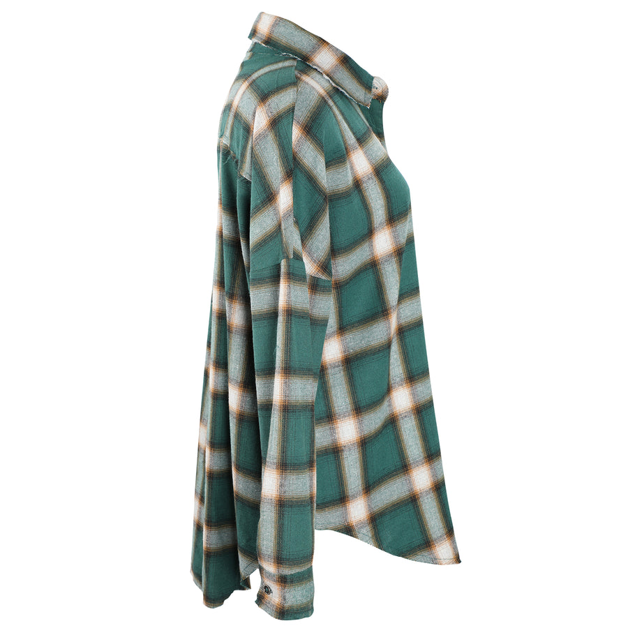 Jonathan Flannel Plaid Oversize Boyfriend Shirt