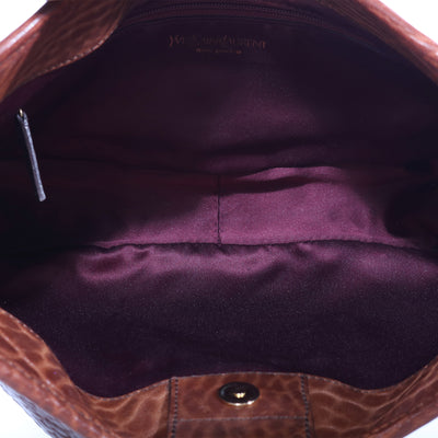 VTG YVES SAINT LAURENT LEATHER BAGUETTE SHOULDER BAG