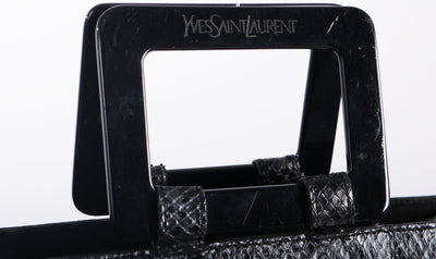 VTG YVES SAINT LAURENT PYTHON LEATHER BAG - Mint Market