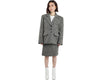 Vtg YVES SAINT LAURENT Wool Power Blazer Skirt Set Size 42