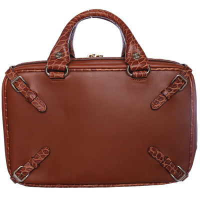 Vintage Celine Leather Suitcase Top Handle Bag
