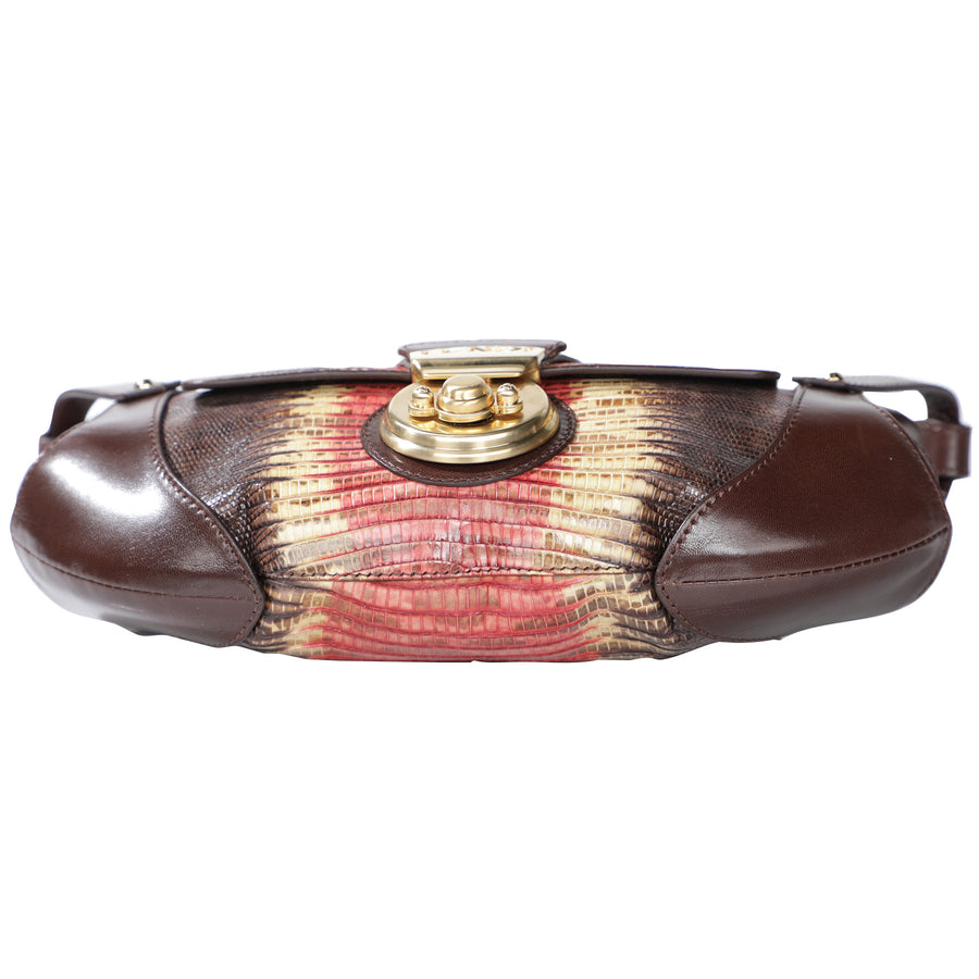Fendi Lizard Leather Shoulder Bag