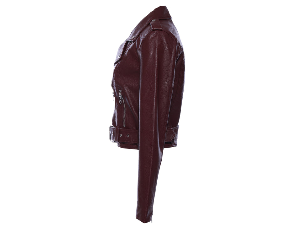 Pistola Tracy Vegan Moto Jacket - Merlot