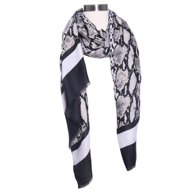 SNAKESKIN LIGHT SPRING SCARF - Mint Market
