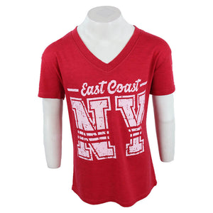 Short Sleeve V Neck with East Coast NY