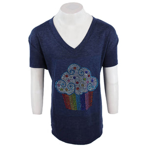 Short Sleeve VNeck with Cupcake