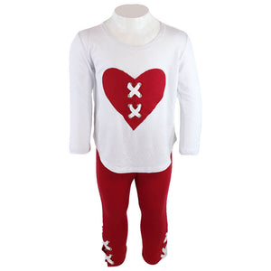 Two Piece Set Red Heart Legging