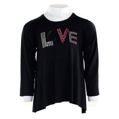 Long Sleeve High Low With Love