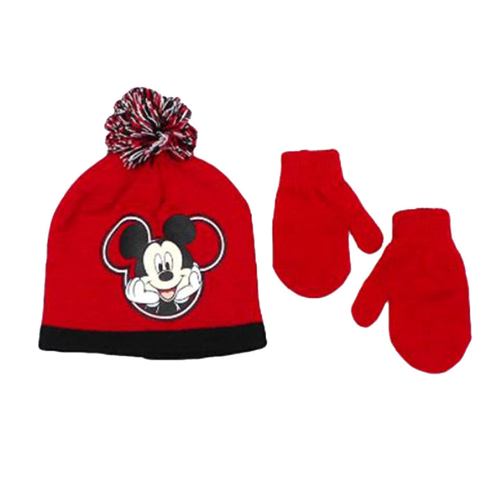 Mickey Mouse Hat and Mitten Set