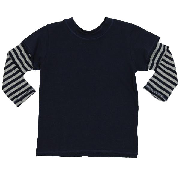 Layered Tee Stripe Sleeve