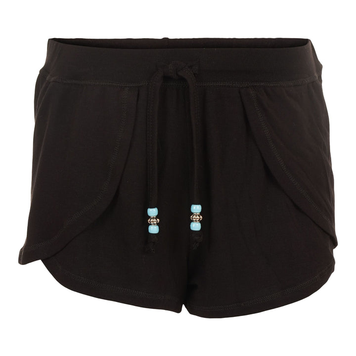 Blk Wrap Short w Blue Yellow Tinsel