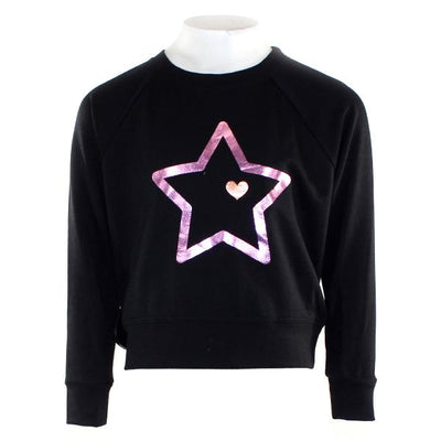 Sweatshirt with Foil Pink Star