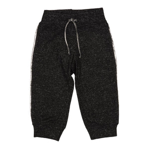 Silver Stripe Black Hacci Sweatpant