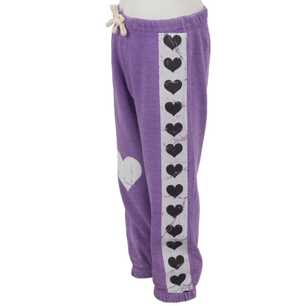 Sweatpant with Stripe Hearts