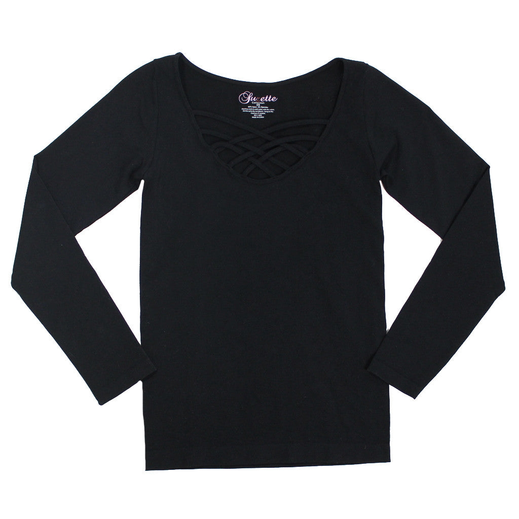 Long Sleeve Spider Cage Top