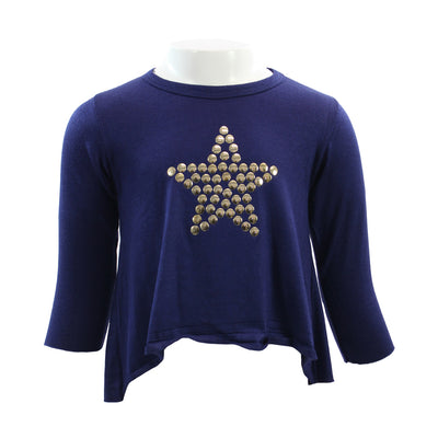 Long Sleeve Hi Lo with Gold Star