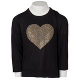 Long Sleeve Hi Low with Gold and Silver Heart Shell