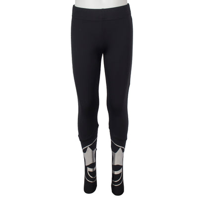 Legging with Silver Smiley Split On Leg