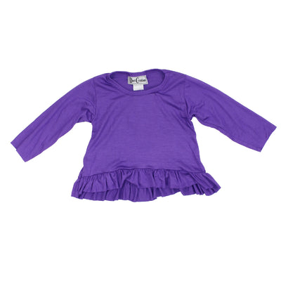 Long Sleeve Purple Ruffle