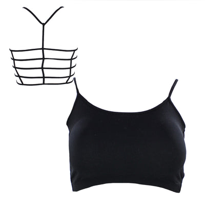Junior Long Bra Ladder Tneck with Removable Pads
