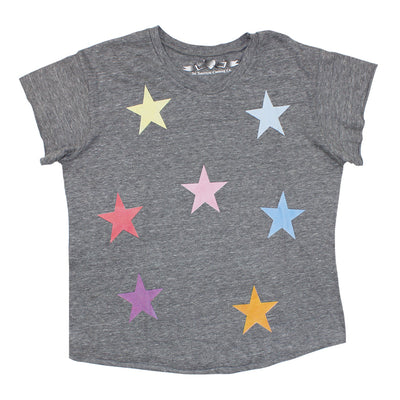 Short Sleeve Scattered Stars Crop Crew
