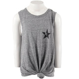 Tie Waist Tank with Lightning Star
