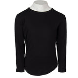 Long Sleeve Black Top Sport Stripe