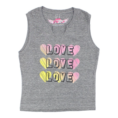 Tank With Cut And Love Love Love